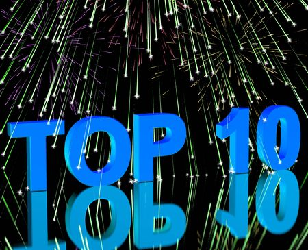 Top Ten Word And Fireworks Shows Best Rated In Charts Stock Photo - 13480520