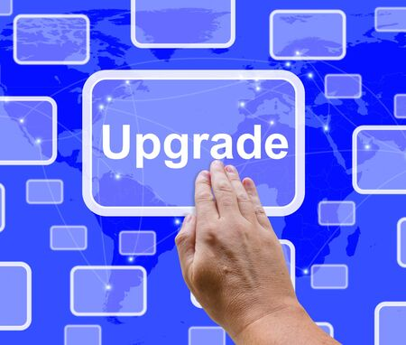 updates: Upgrade Button Showing Software Updates To Improve Applications