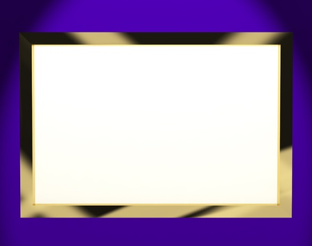 wideview: TV Monitor Having White Copyspace Or Copy Space Stock Photo