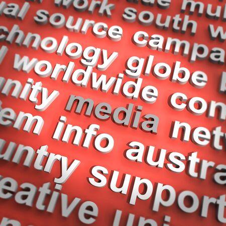 Diagrama de los medios de comunicación Medios Prensa Internet Televisión y Radio Foto de archivo - 13480672