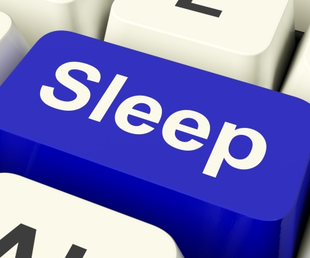 Sleep Computer Key Shows Insomnia Or Sleeping Disorders Online Stock Photo - 13482104
