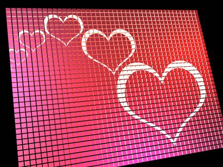 Hearts On Computer Display Shows Love And Online Dating Stock Photo - 13464561