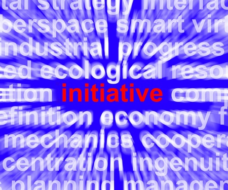 proactive: Initiative Word Means Leadership Inventiveness And Being Proactive Stock Photo