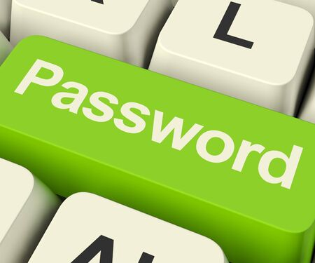 logon: Password Computer Key In Green Shows Permission And Security
