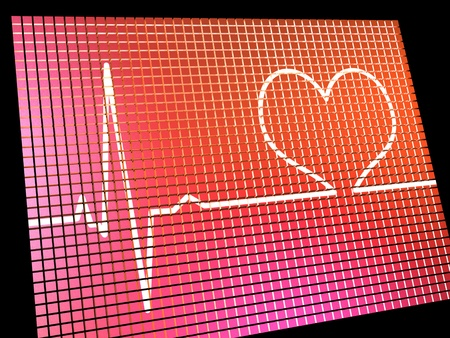 Heart Rate Display Monitor Shows Cardiac And Coronary Health  Stock Photo - 13480433