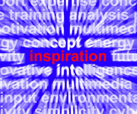 Parole Inspiration Zoom Affiche la pens�e positive et d'encouragement Banque d'images - 13480586
