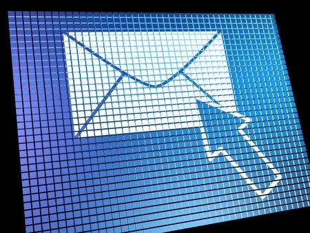 Email: Email Icon Sie auf dem Bildschirm ausgew�hlte Bild zeigt E-Mail oder kontaktieren