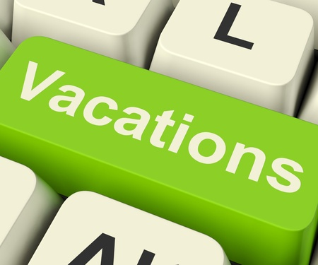Vacations Computer Key for Booking And Finding Holiday Online photo
