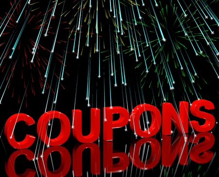 discount coupon: Coupons Word With Fireworks Shows Vouchers For Reductions Or Discounts