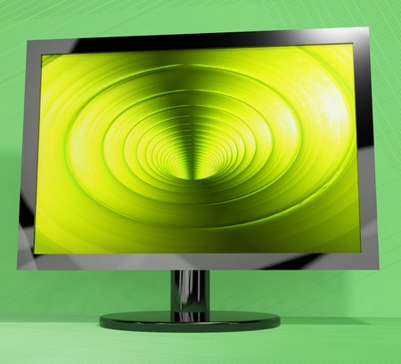 high definition television: TV Monitor With Vortex Picture Representing High Definition Television Or HDTVs