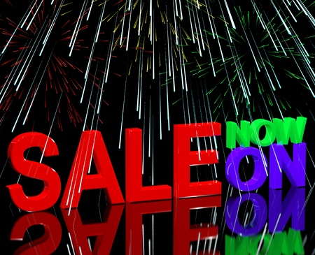 sellout: Sale Now On And Fireworks Shows Discounts And Reductions