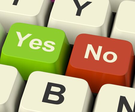 Yes No Keys Represent Uncertainty And Decisions Online photo
