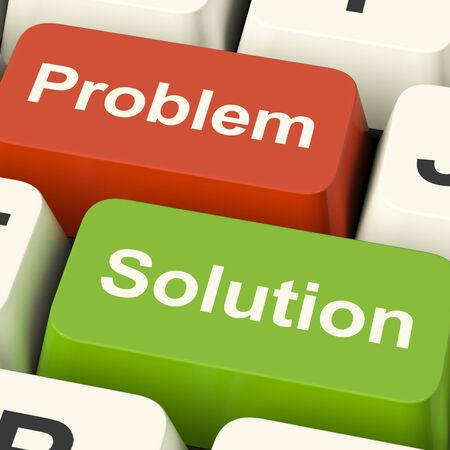 problem: Problem And Solution Computer Keys Shows Assistance And Solving Online