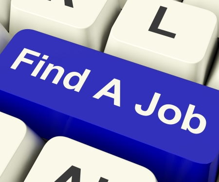 Find A Job Computer Key Shows Work And Careers Search Online Stock Photo - 13482103