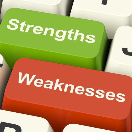 Strengths And Weaknesses Computer Keys Shows Performance Or Analyzing photo