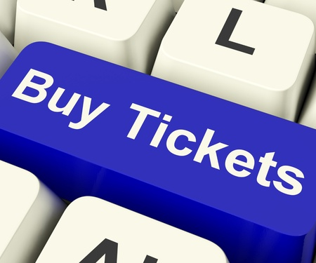 Buy Tickets Computer Key Shows Concert Or Festival Admission Purchases Online photo