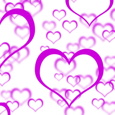 Mauve Hearts Background Shows Love Romance And Valentines Stock Photo - 13481320