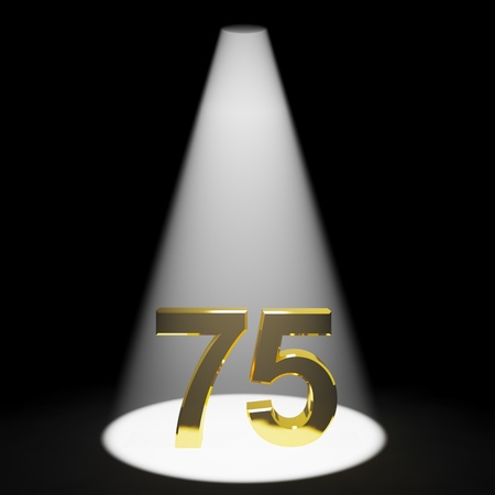 Gold 75th 3d Number Representing Anniversary Or Birthdays photo