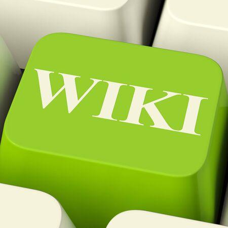 wiki: Wiki Computer Key For Online Information Or Encyclopedias Stock Photo