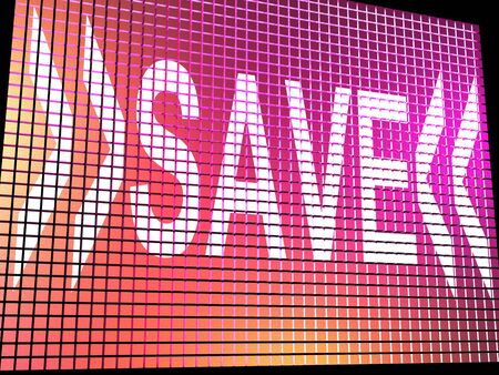 Save Monitor Shows Promotion Discount And Reduction Online Stock Photo - 13480439