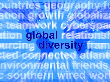 Global Diversity Words Shows Diverse Ethnic People Worldwide Stock Photo - 13480558