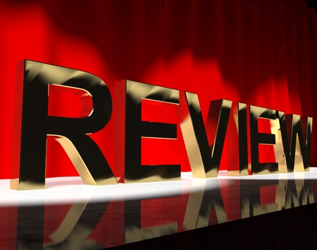 Review Word On Stage Shows Evaluation And Feedback  Stock Photo - 13480666