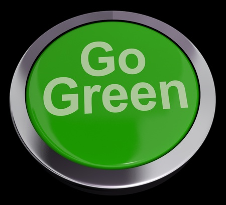 Go Green Button For Recycling And Eco Friendly Stock Photo - 13464571