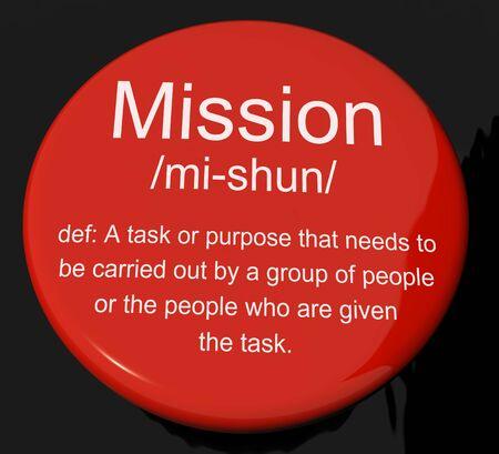 intention: Bouton d�finition de la mission Affiche Objectif t�che ou une affectation To Be Done
