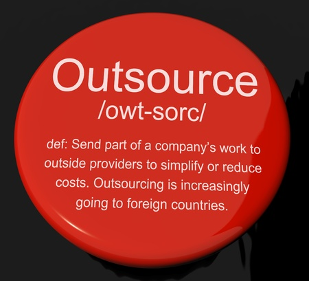 suppliers: Outsource Definition Button Shows Subcontracting Suppliers And Freelance