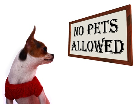 unauthorized: No Pets Allowed Sign Shows Unauthorized Forbidden Zone