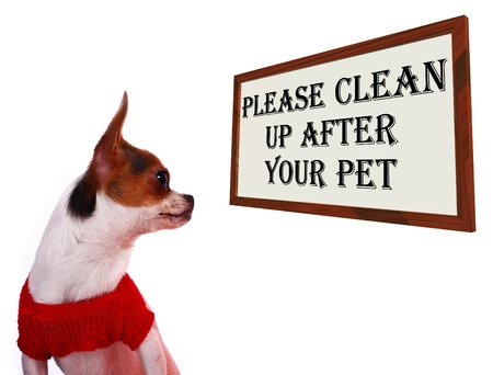 cleanup: Please Clean Up After Your Pet Dogs Sign