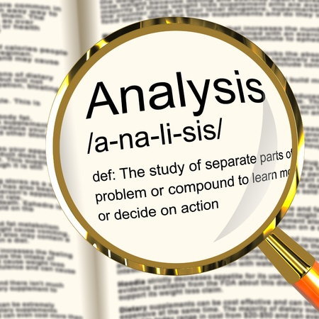 Analysis Definition Magnifier Shows Probing Study Or Examining Stock Photo - 13564462