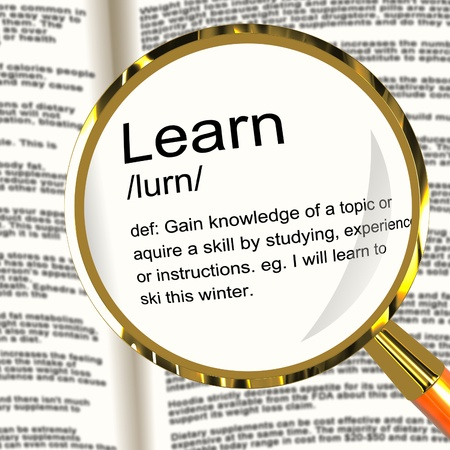 gained: Learn Definition Magnifier Shows Knowledge Gained And Study