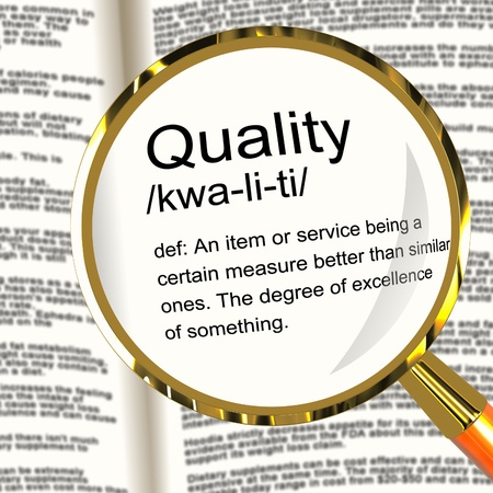 Quality Definition Magnifier Shows Excellent Superior Premium Product Stock Photo - 13564503