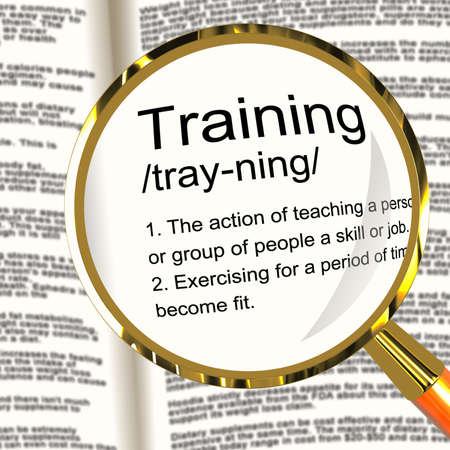Training Definition Magnifier Shows Education Instruction Or Coaching photo