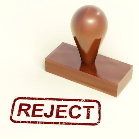 Reject Stamp Showing Rejection Denied Or Refusing Stock Photo - 13965351