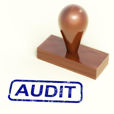Auditor�a Sello Mostrando examen de Contabilidad Financiera Foto de archivo - 13965344