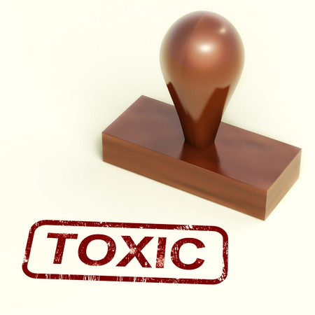 toxicology: Toxic Rubber Stamp Shows Poisonous And Noxious Substances