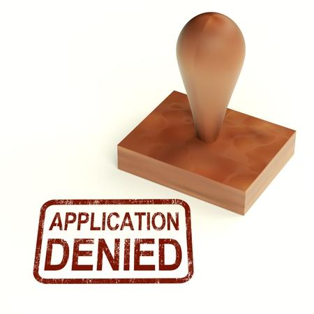 denied: Application Denied Stamp Showing Loan Or Visa Rejected