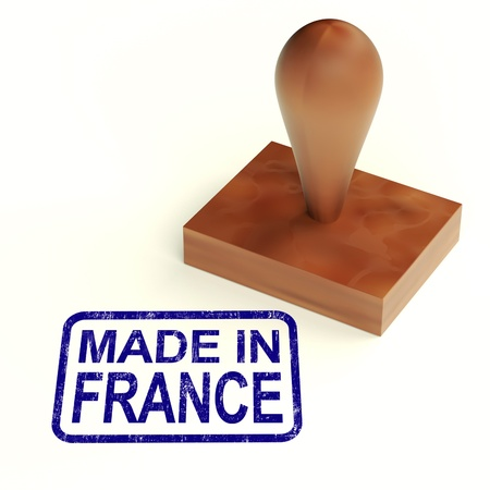 Made In France Rubber Stamp Showing French Products Stock Photo - 13965331