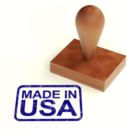 Made In The Usa Rubber Stamp Showing Products From America Stock Photo - 13965328