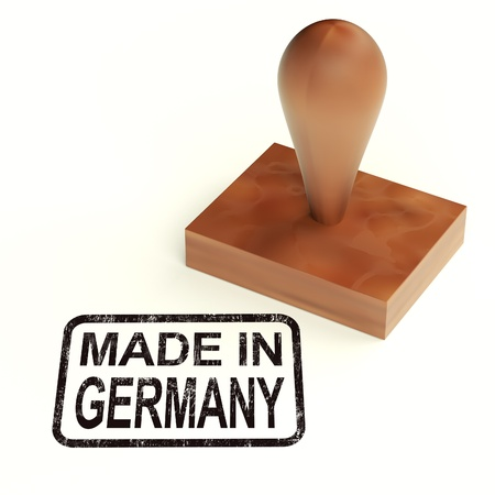 Made In Germany Rubber Stamp Showing German Products Stock Photo - 13965325