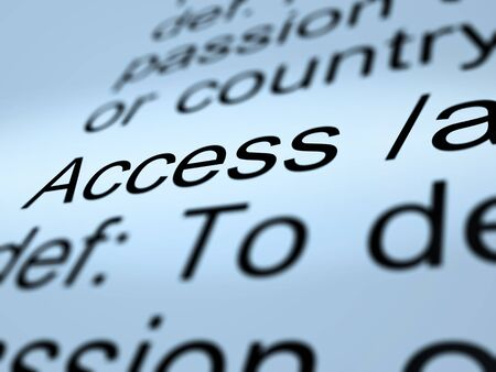 Access Definition Closeup Shows Permission To Enter A Place Stock Photo - 13965367