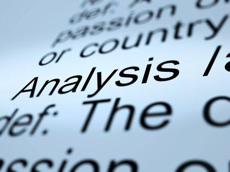 Analysis Definition Closeup Shows Probing Study Or Examining Stock Photo - 13965375