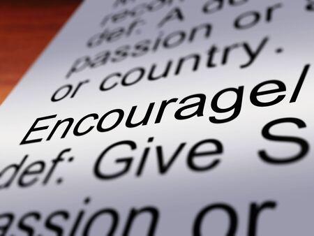 reassurance: Fomentar Definici�n Primer Muestra inspiraci�n motivaci�n y confianza