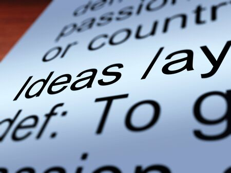 Ideas Definition Closeup Shows Creative Thoughts Invention And Improvement photo