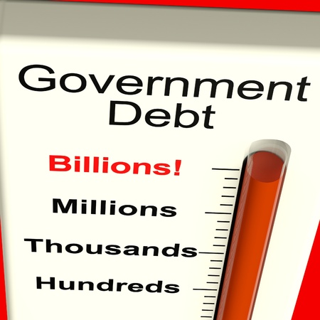 billions: Goverment Debt Meter Shows Nation Owing Billions