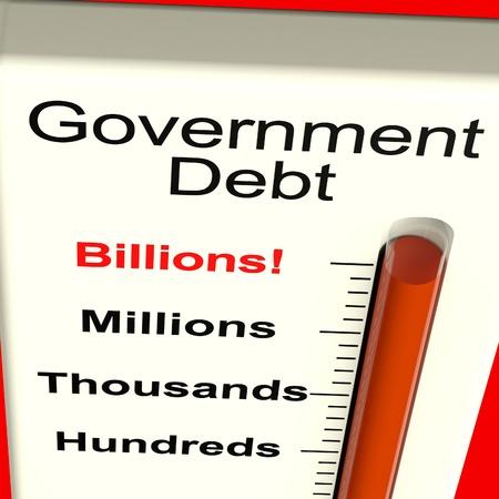 owes: Goverment Debt Meter Shows Nation Owing Billions
