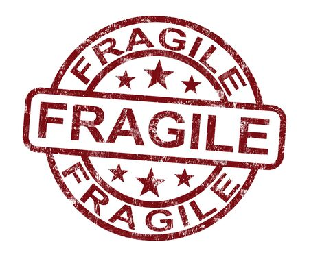 Fragile Stamp Shows Breakable Or Delicate Products For Delivery photo