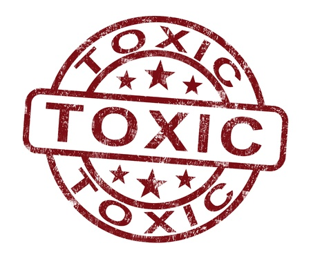 toxicology: Toxic Stamp Shows Poisonous Lethal And Noxious Substance Stock Photo